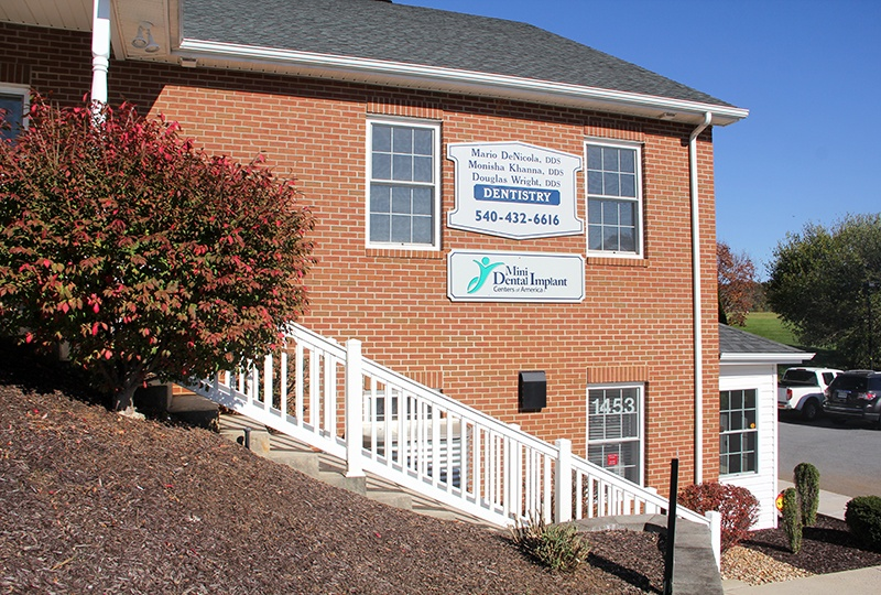 teps to front entrance of Harrisonburg Family & Cosmetic Dentistry