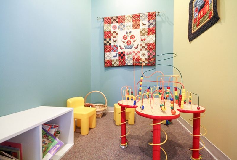 Children's waiting area with toys